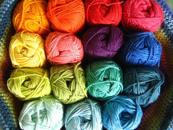 Photo of Hundreds of wool skeins used to shape works of art