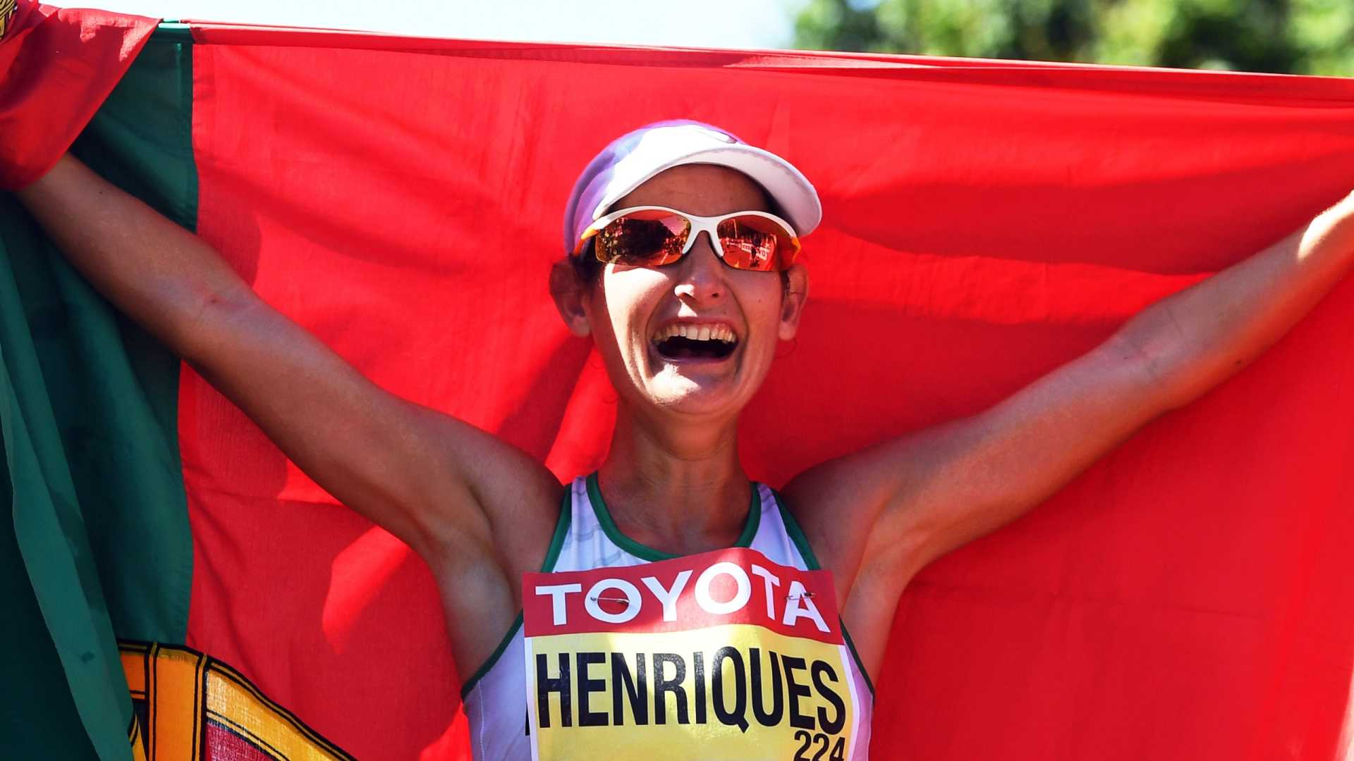 Photo of Inês Henriques European champion of 50 km march