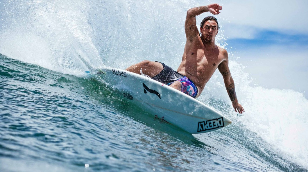 Photo of Portuguese surfer Vasco Ribeiro second in Pro Anglet