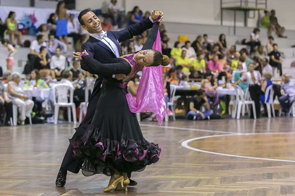 Photo of Portuguese on the podium of the World Championship of Hall Dances