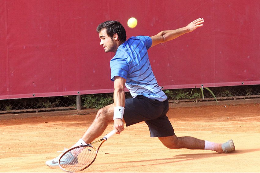 Photo of Frederico Silva in the second round of the Kaohsiung tennis challenge