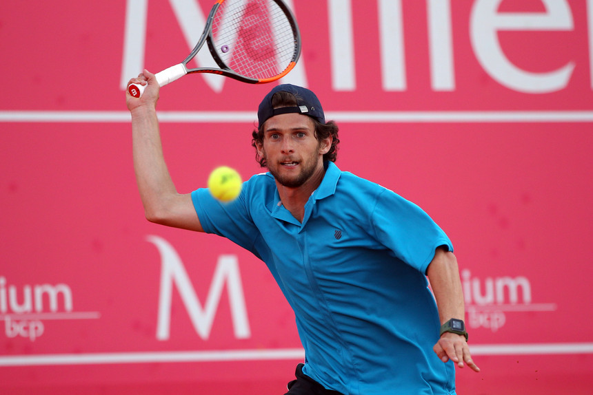 Photo of Pedro Sousa in the first final of an ATP tournament, without playing …