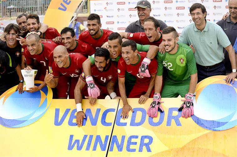 Photo of Portugal third ranked in the European League of Beach Soccer