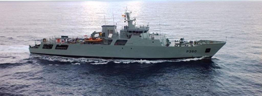 Photo of Portuguese ship ends Cape Verde mission for three months