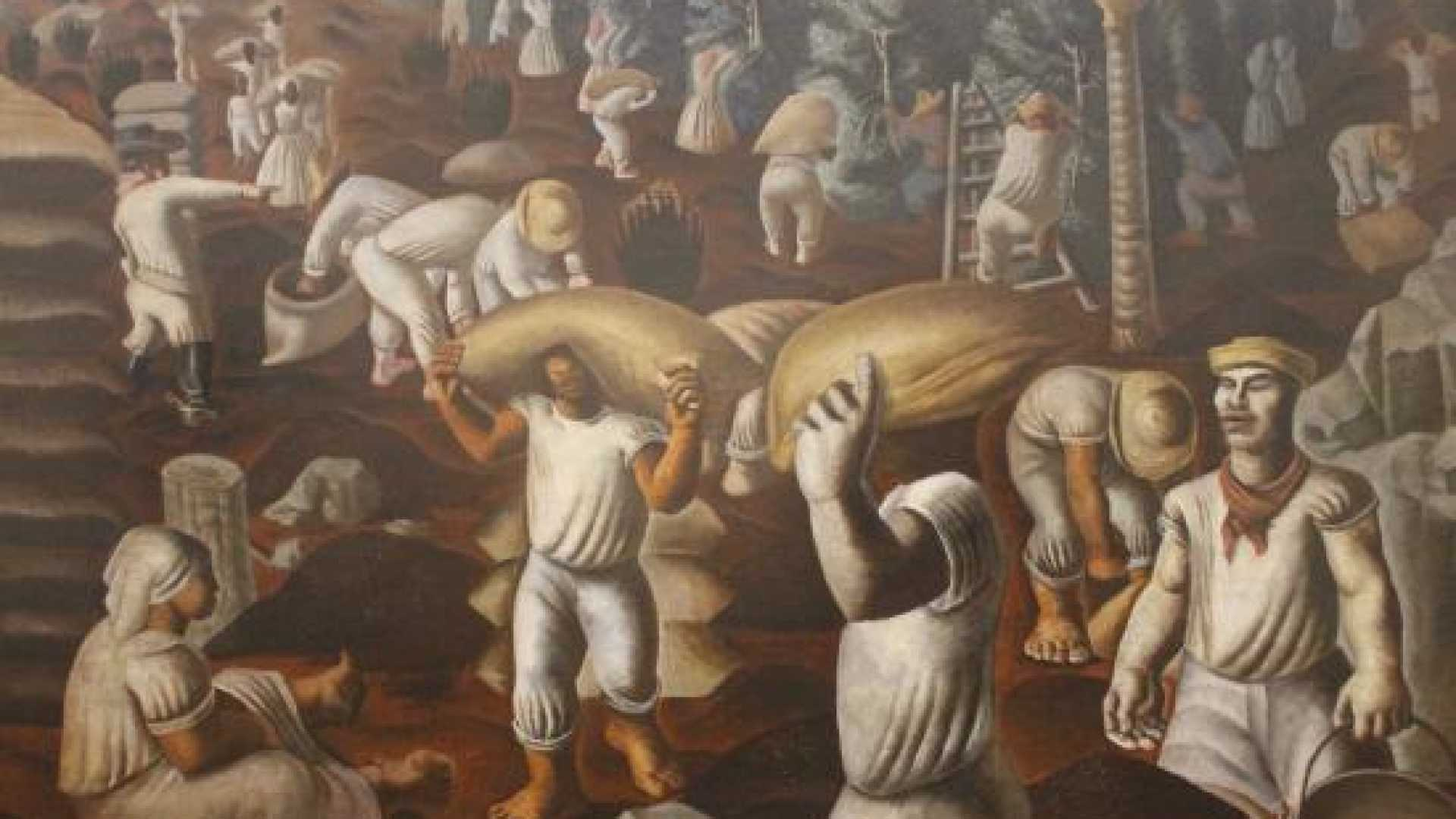 Photo of Portinari's mythical work 'Café' in the exhibition about the painter