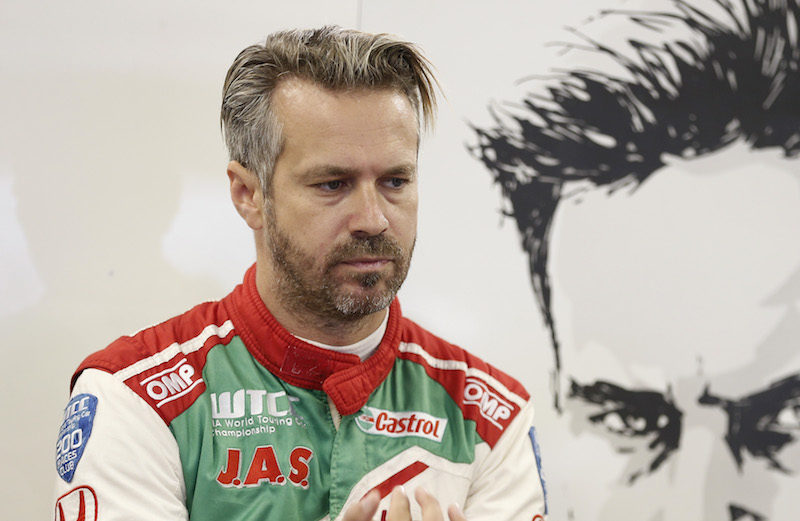 Photo of Tiago Monteiro was in a position to score in Japan