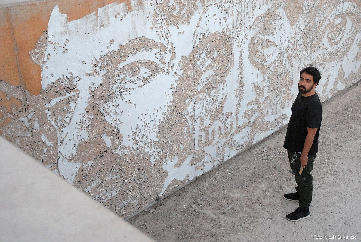 Photo of Portuguese Street Artist Vhils
