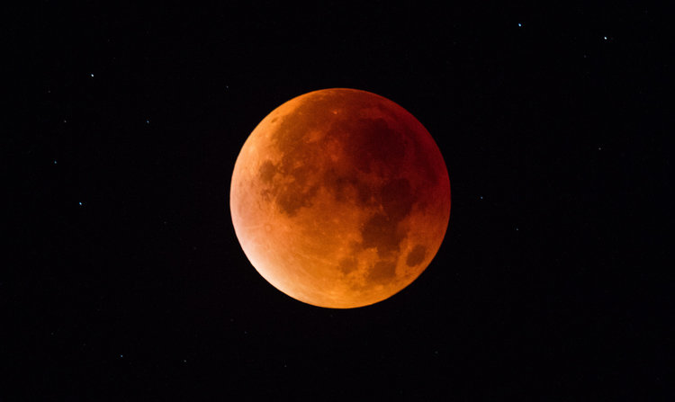 Photo of This weekend ends with a total eclipse of the Super Moon