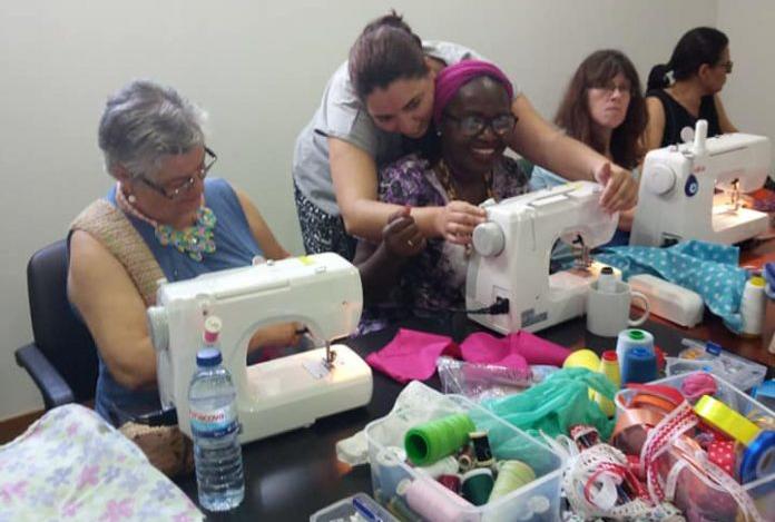 Photo of Torres Vedras volunteers sew dresses for needy children
