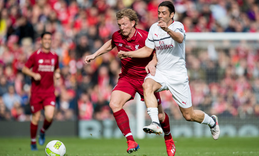 Photo of Rui Costa in a game of legends between Liverpool and Milan that Gerrard decides