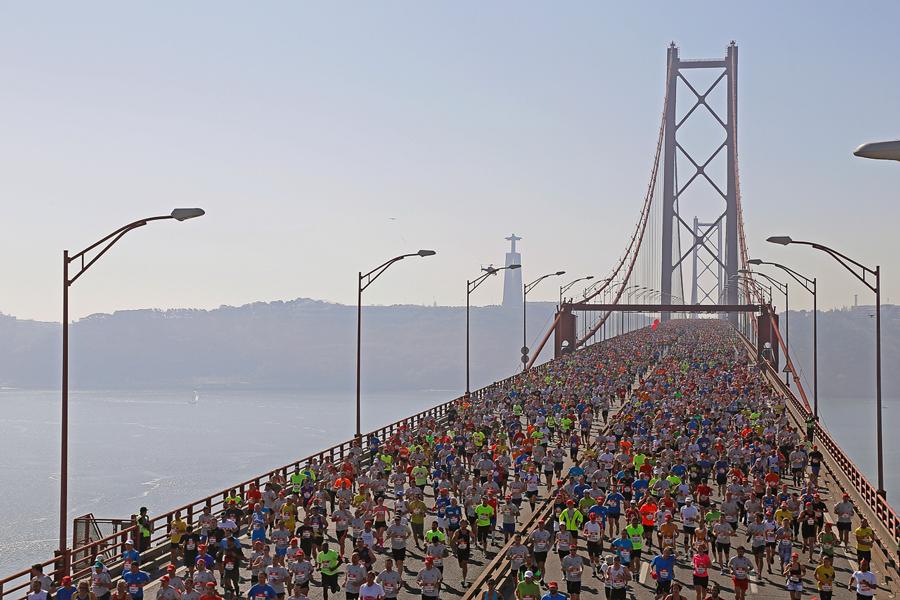 Photo of Mosinet Geremew and Vivian Cheruiyot won half a Lisbon marathon