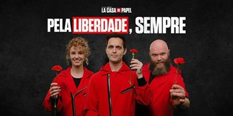 Photo of 'Casa de Papel' marks 25th of April and Berlin sings 'Grândola Vila Morena'