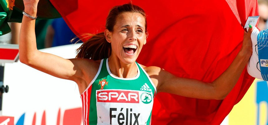 Photo of Dulce Félix second in the Iberian Trophy of 10,000 meters