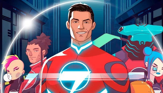 Photo of CR7 is a cartoon superhero