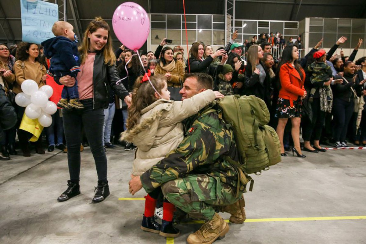 Photo of Portuguese soldiers return home after six months in Afghanistan