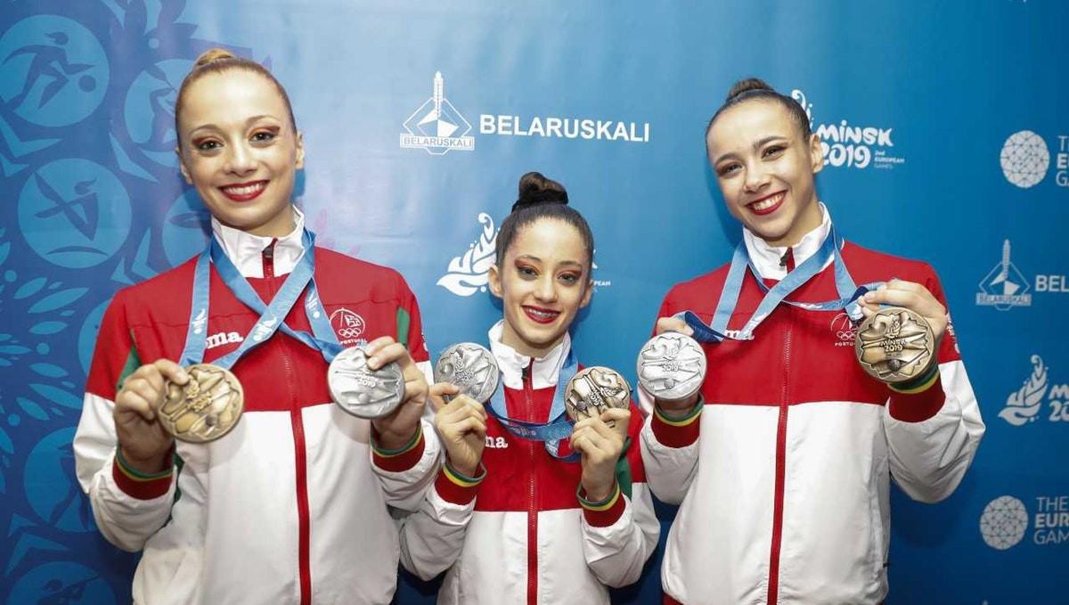 Photo of Silver medal in acrobatic gymnastics