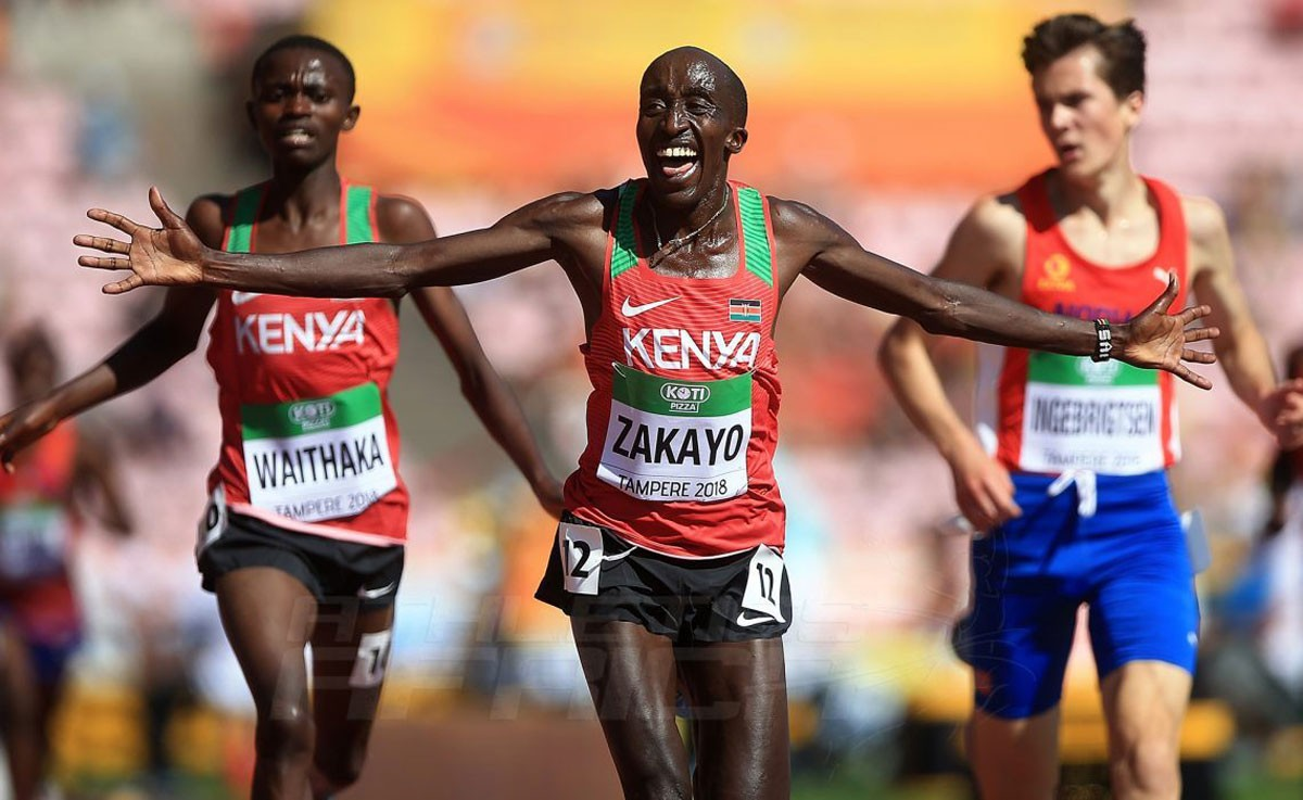 Photo of Benfica's athlete won the 5000 meters