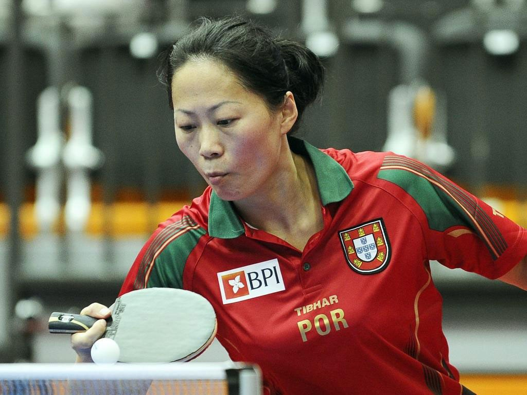 Photo of Fu Yu in the quarter finals of the table tennis, Jieni Shao eliminated