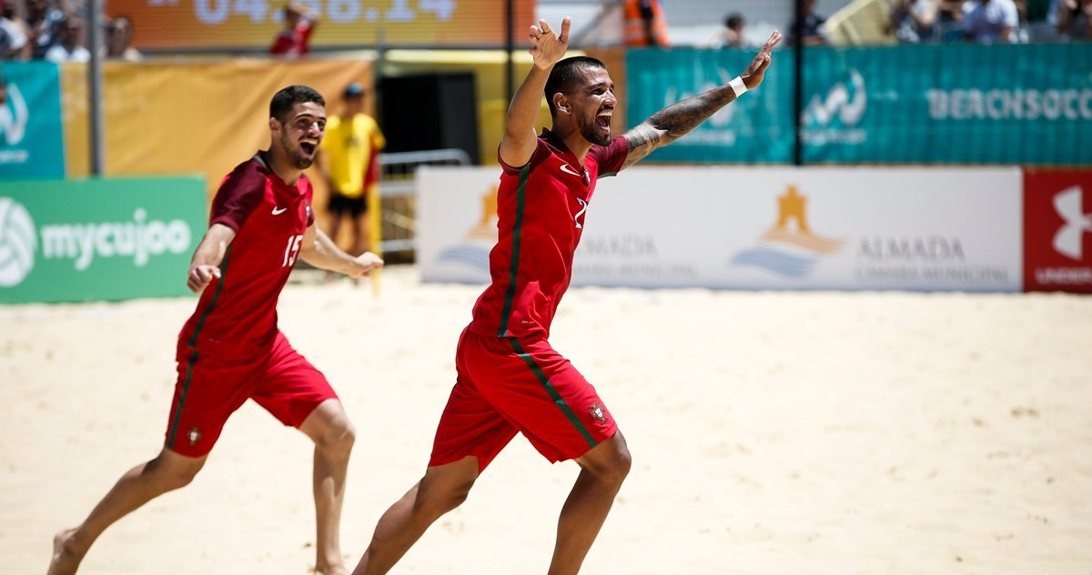 Photo of Portugal at the beach soccer final in Minsk