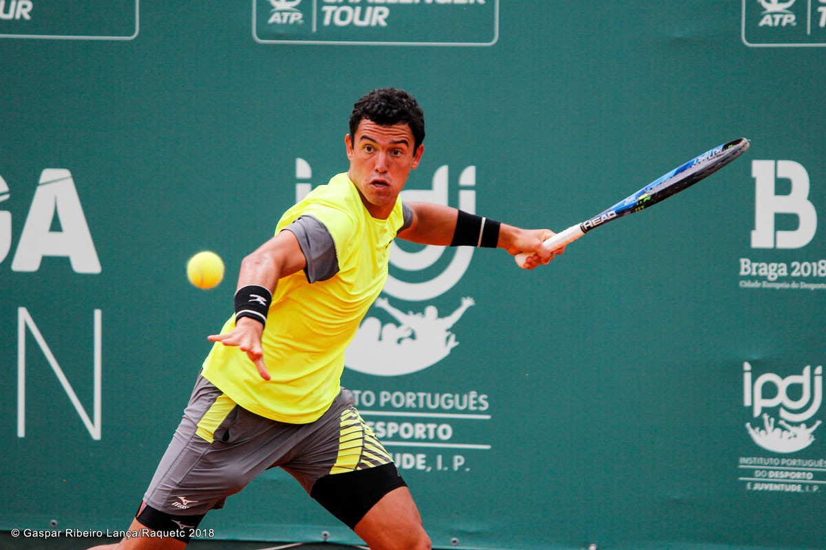 Photo of Gonçalo Oliveira in the round of 16 of Baotou's challenger