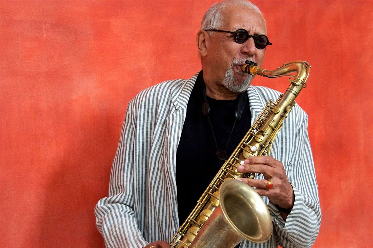 Photo of Charles Lloyd in November at the opening of the Guimarães Jazz festival