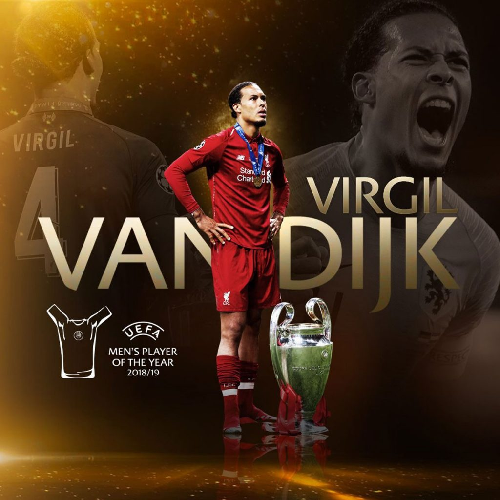 Photo of Van Dijk honored by UEFA as best player of the year
