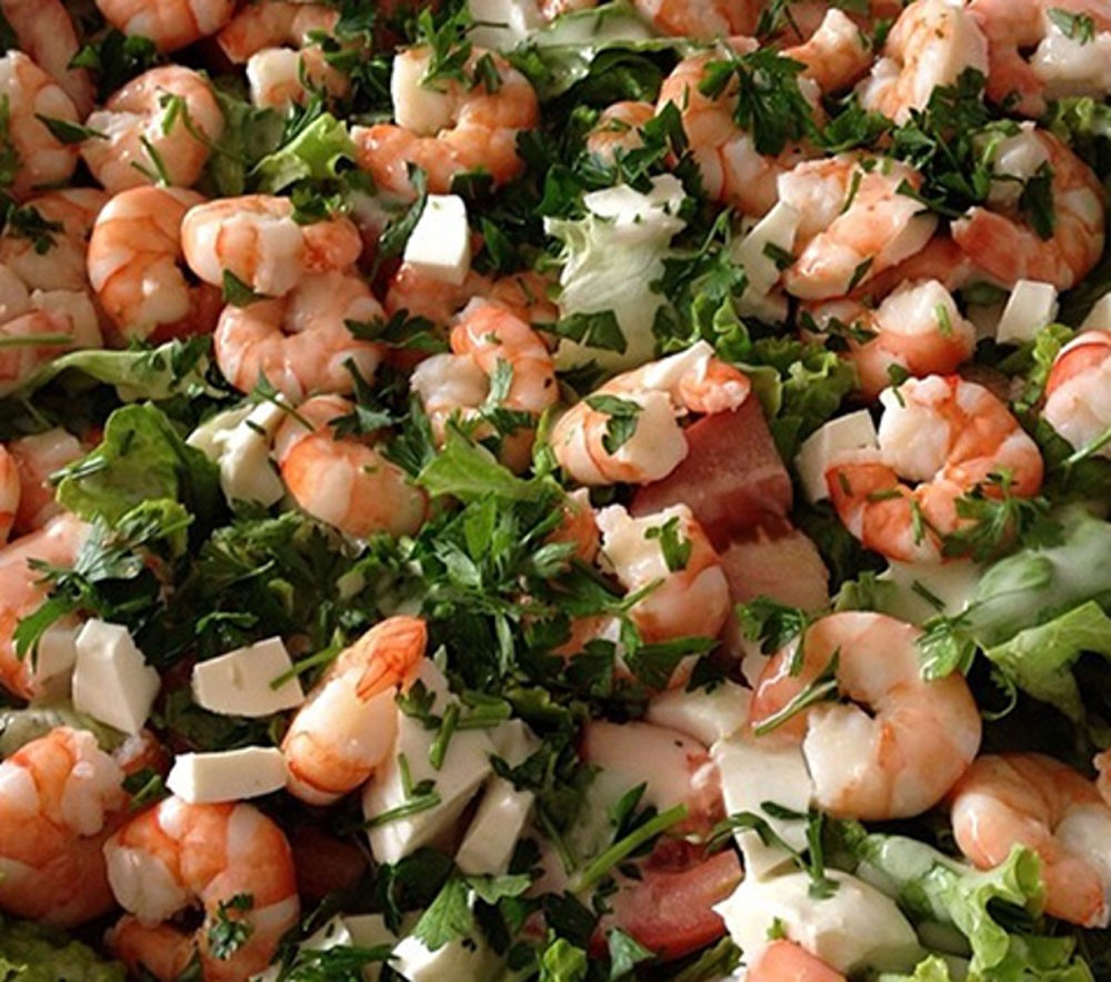 Photo of Shrimp Salad with Fresh Cheese