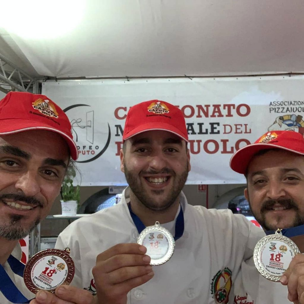 Photo of Portugal on the podium of the Pizzaiolo World Championship