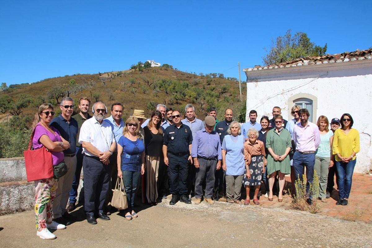 Photo of São Brás de Alportel was visited by EU experts on a post-fire recognition tour