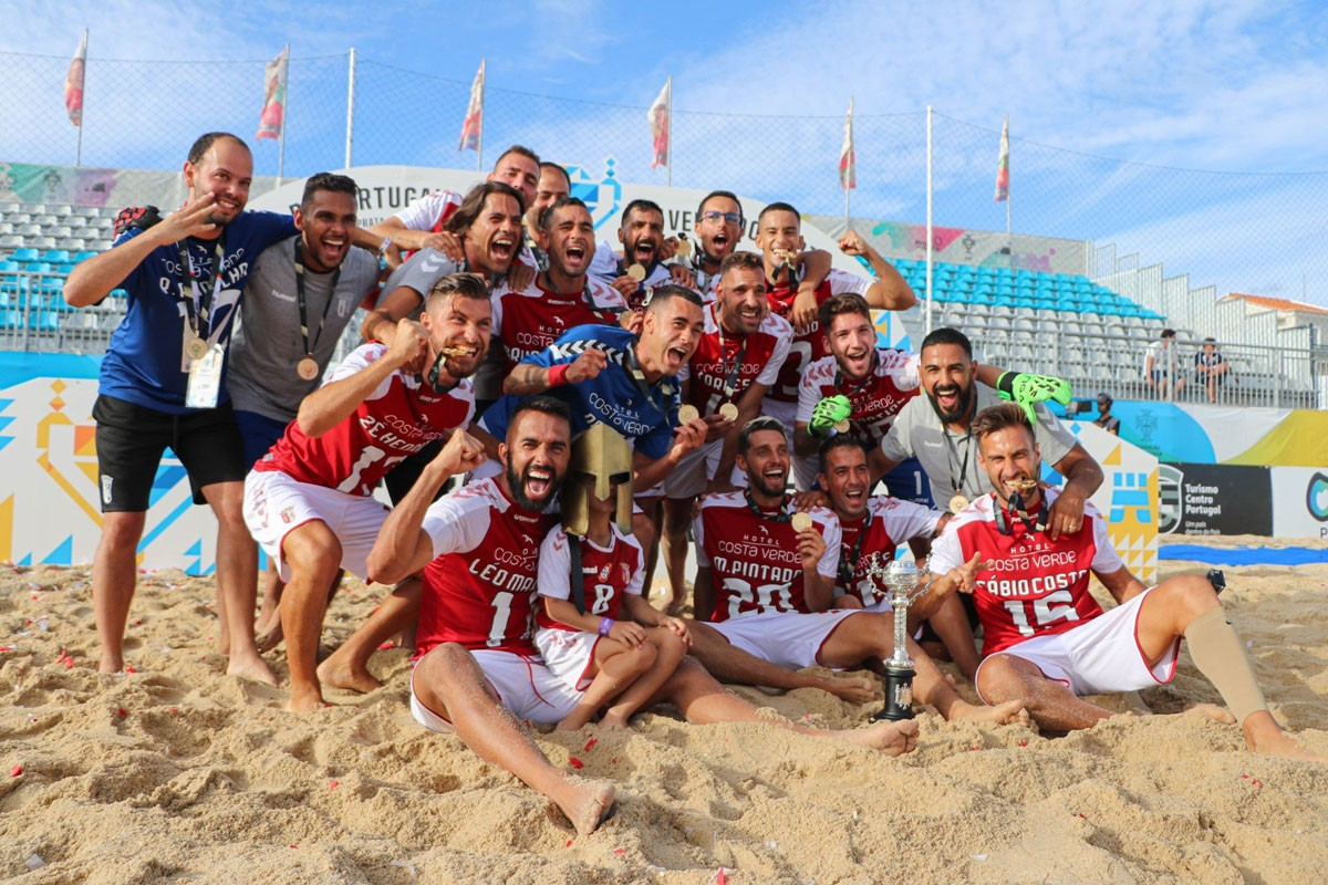 Photo of Braga wins first beach soccer Portugal Cup