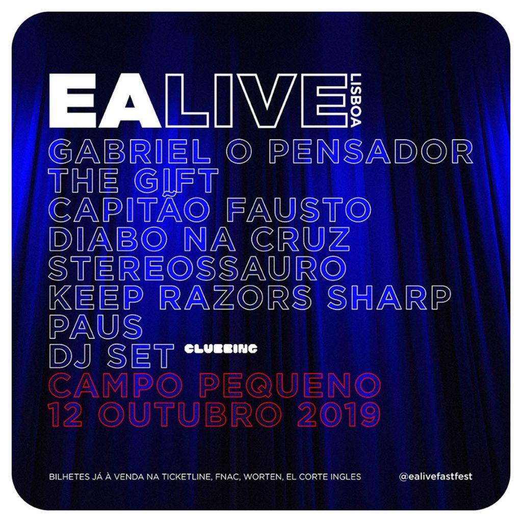 Photo of Seven bands at Campo Pequeno' stage for EA Live