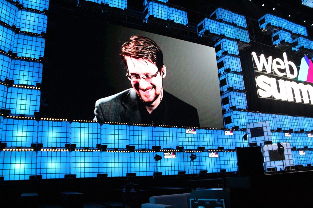 "Photo of Edward Snowden: ""It is not data that is being exploited, It is people that are being exploited"""
