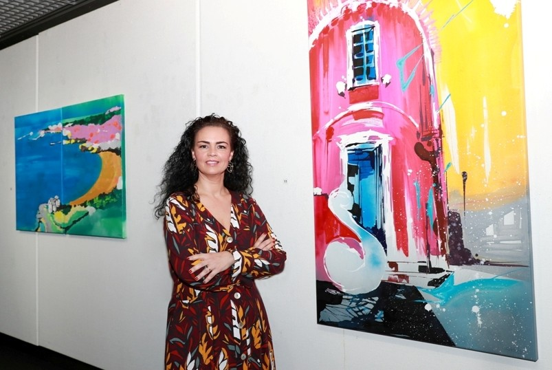 """Photo of Exhibition """"Ch(ama)"""" by Filipa Oliveira Antunes at the Casino Estoril Art Gallery"""