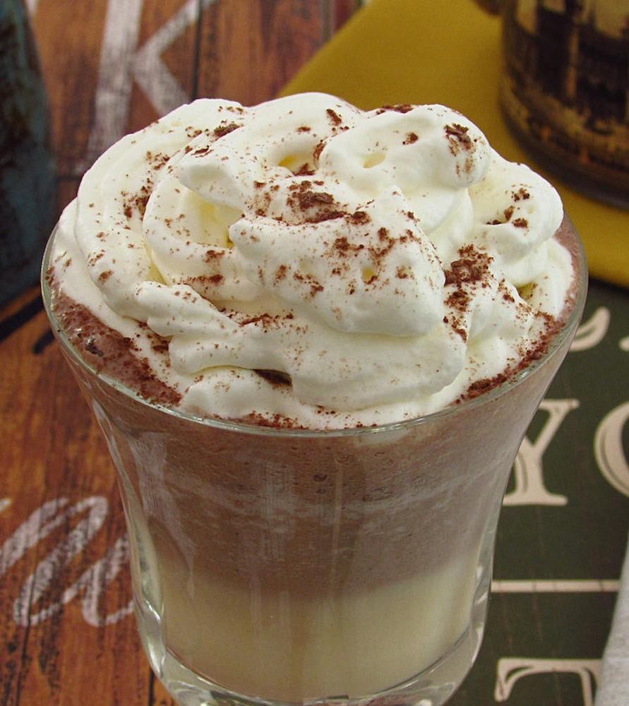 Photo of Mango and chocolate milkshake