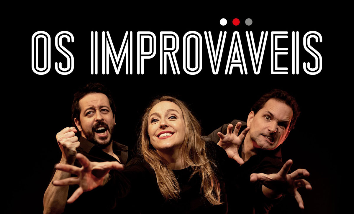 "Photo of ""Os Improváveis"" with ""Becabeca"" in the Casino Estoril Auditorium"