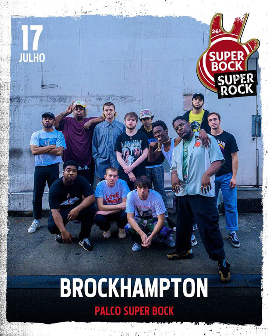 Photo of Brockhampton confirmed at Super Bock Super Rock