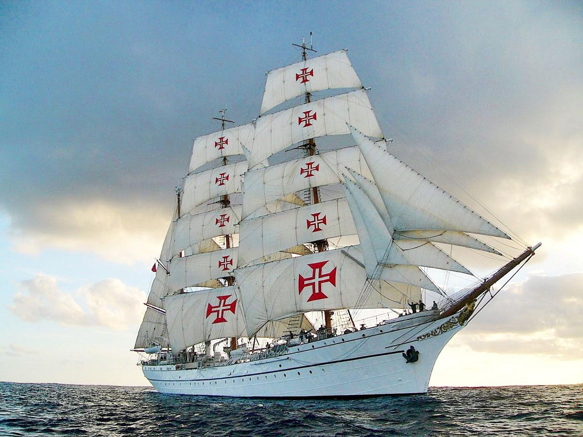 """Photo of School ship """"Sagres"""" in Rio de Janeiro"""