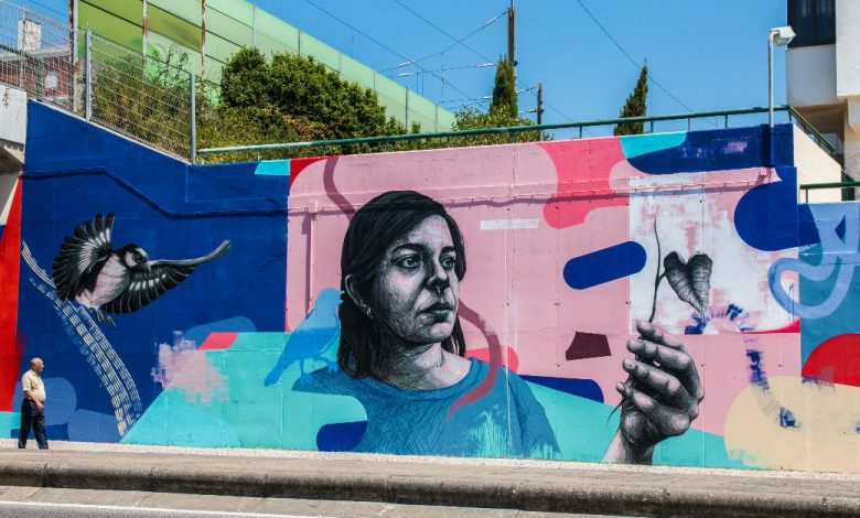 Photo of Odeith, Kruella d'Enfer and Add Fuel paint murals in Amadora