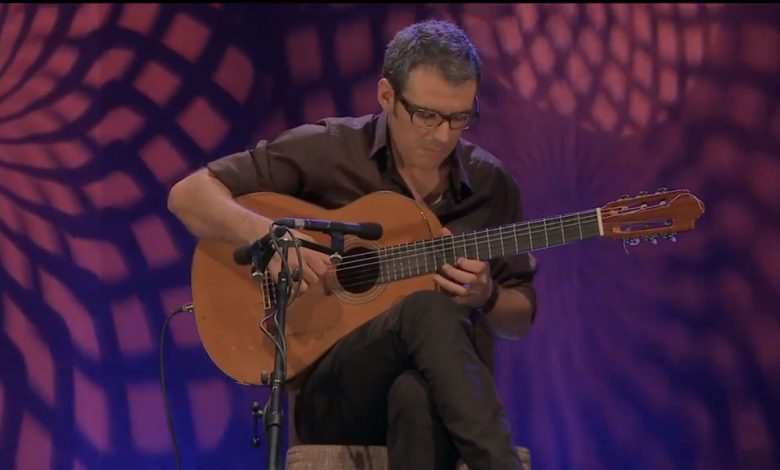 Photo of Manuel de Oliveira in concert with Jorge Pardo and Carlos Benavent on November 1