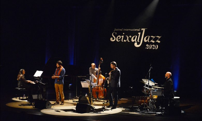 Photo of Isabel Rato Quinteto on stage at SeixalJazz 2020